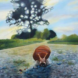 En snegl på vejen