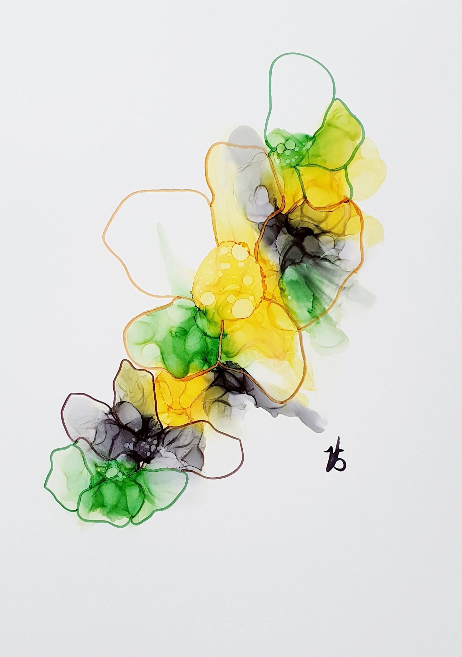 Enkle ink blomster